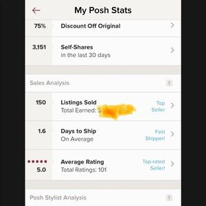 Other - My posh stats!!!🧥👚👔🩳👕🩱👢👒👡👠🧢💍👛👓👜👗